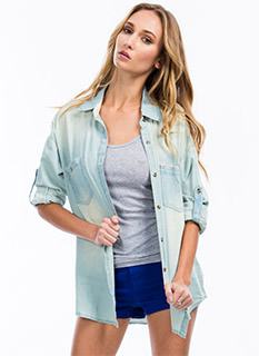 Chambray Everyday Button-Up Shirt