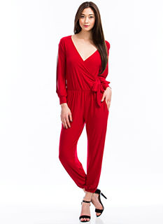 Slit Sleeves Jumpsuit