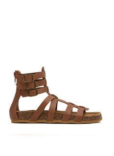 Tri-Buckle Strapped Gladiator Sandals