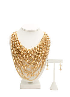 Double Draped Mixed Necklace Set