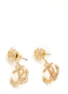 Wheel N Anchor Earrings