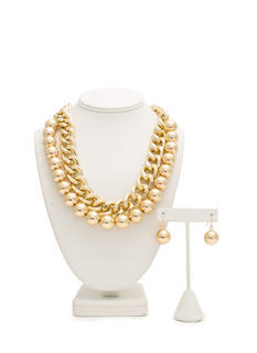Ball N Chain Necklace Set