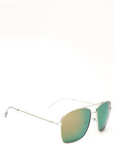 Reflective Squared Aviator Sunglasses