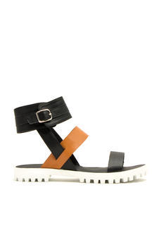 Rugged Chic Triple Strap Sandals