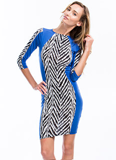 Walk In Zigzag Bodycon Dress