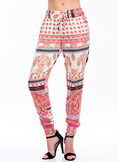 Turkish Mixed Print Pants