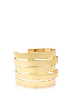 Layered And Stacked Cut-Out Cuff