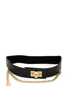 Draped Chain Twist Lock Stretchy Belt