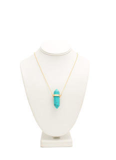 Hexagonal Ring Faux Stone Necklace
