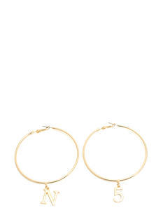 N And 5 Oversized Hoop Earrings