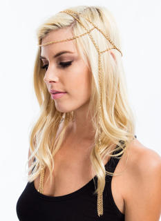 Draped Chain Fringe Tassel Headchain