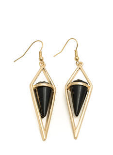Cone-Shaped Faux Stone Earrings