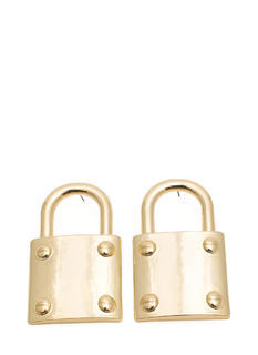 Oversized Padlock Charm Earrings
