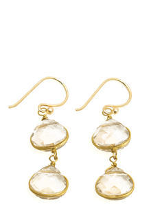 Double Faux Jewel Earrings