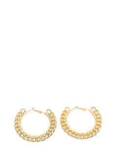 Curb Chain Link Hoop Earrings