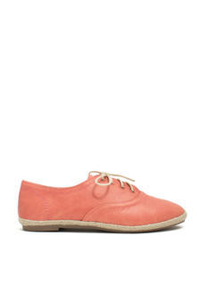 Jute Force Faux Leather Oxford Flats