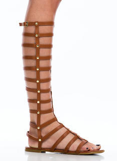 Latticed Cage Gladiator Sandals