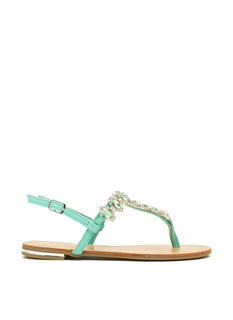 Lady Jewels T-Strap Sandals