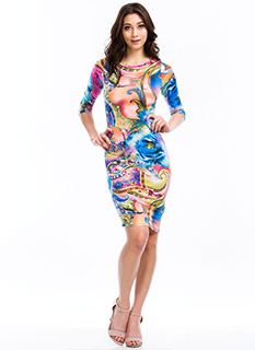 Paint A Paisley Picture Print Dress