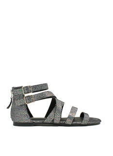 Strappy Spotted Iridescent Sandals