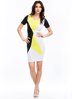 What's Your Angle Colorblock Dress