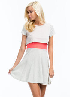 What A Combo Mesh Contrast Dress