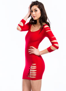 Slasher Bodycon Dress