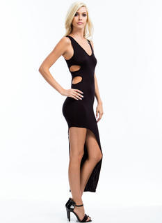 Double Cut-Out Asymmetrical Dress