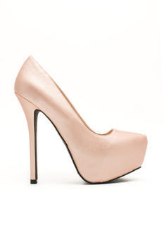 Classic Textured Platform Pumps