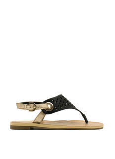 Cut Loose Metallic Strap Sandals