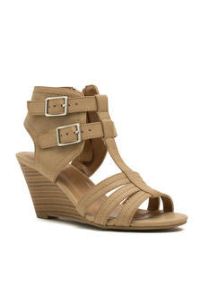 Cut-Out Double Buckle Wedges