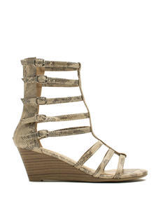 Ladderally Metallic Snake Wedges