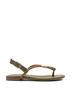 Looped Metallic Accent Sandals