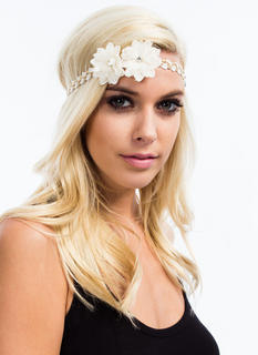 Double Flower Accent Headband