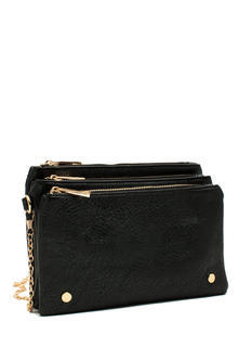 Triple Compartment Crossbody Bag