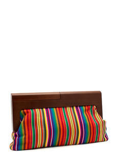 Multicolor Wooden Clutch