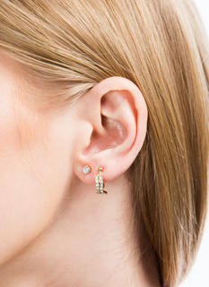Wavy Jeweled Ear Cuff Set