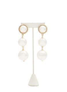 Oversized Pearls Jeweled Earrings