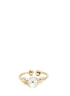 Jeweled Wingspan Twisted Midi Ring