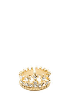 Jeweled Crown Midi Ring