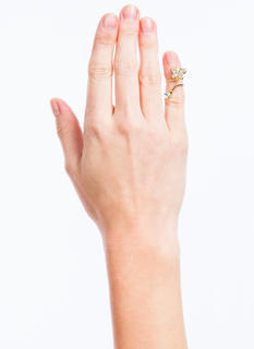 Jeweled Butterfly Twisted Nail Ring