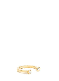 Rhinestone Horseshoe Midi Ring