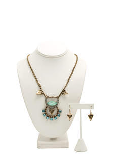 Iridescent Tribal Necklace Set