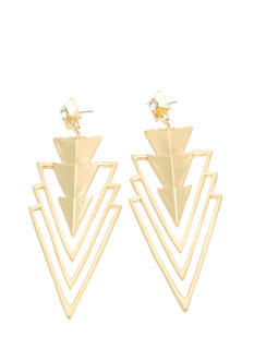 Cut-Out Chevron Arrowhead Earrings