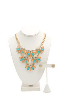 Jeweled Daisies Necklace Set
