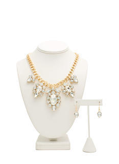 Extra Sparkly Faux Jewel Necklace Set