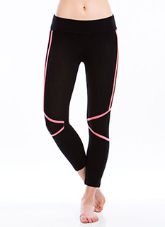 Piped Dream Cropped Yoga Pants