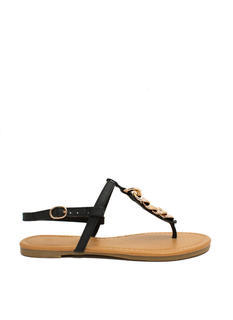 A Little Chain-ge T-Strap Sandals