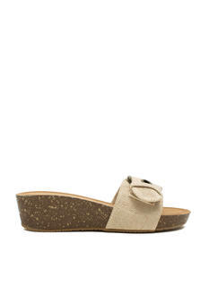 Canvas Low Mini Wedge Sandals