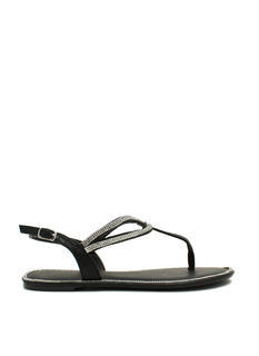 In The Loops Jeweled T-Strap Sandals